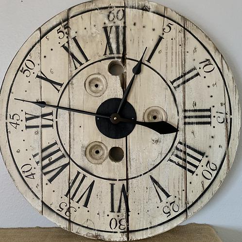 "24""Wooden Spool Clock"