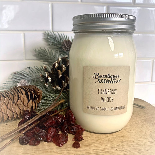 """16oz Candle """"Cranberry Woods"""""""