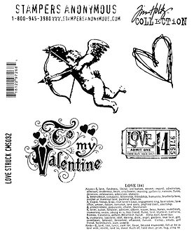 Tim Holtz Love Struck Cling Mounted Set