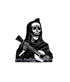V620 Posada Skeleton Robed guitar player (small or large)