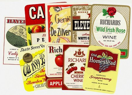 Vintage Wine labels Set # 2
