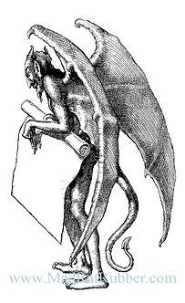 V642 Devil Holding Scroll