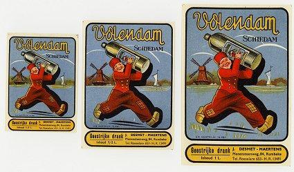 Vintage Volendam Labels