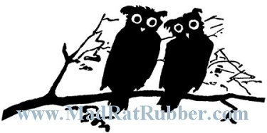V652 Silhouette Owls on Branch