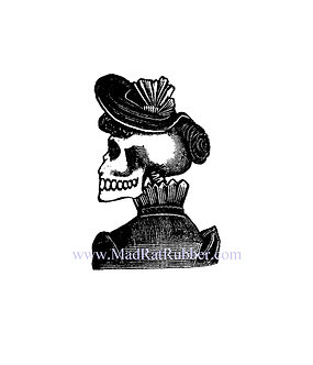 V617 Posada Skeleton woman wearing hat (small or large)