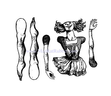 Armand French Dancer doll or marionette rubber stamp
