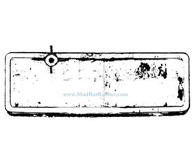 M147 Long Rectangle Sign Frame