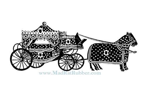 V689 Polka Dot Horse Drawn Carriage