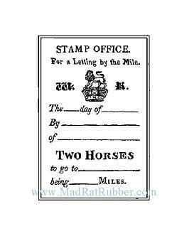 V496 Stamp Office / 2 Horses
