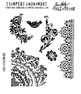 Tim Holtz Floral Tattoo Cling Mounted Set