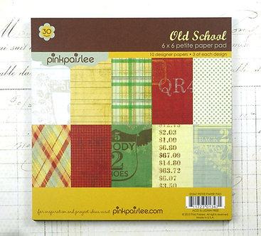 Old School 6 x 6 Paper Pad