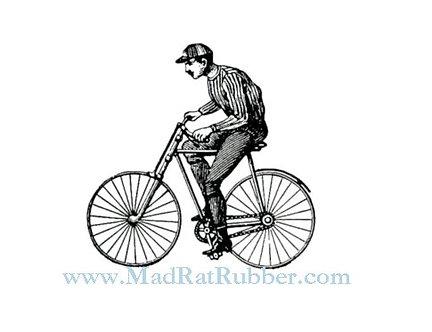 V678 Man Riding Bike
