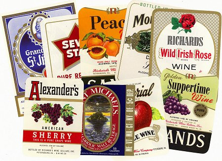 Vintage Wine Labels Set # 1