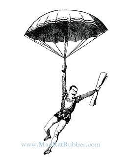 V679 Umbrella Parachute Man