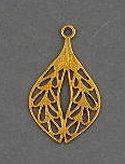 S21 Brass Filigree Leaf
