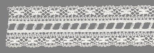 White Wide Ladder Lace