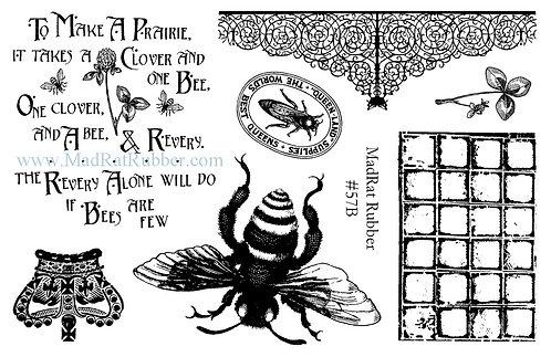 Dark Bee Set of 7
