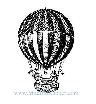 V686 Stripy Hot Air Balloon