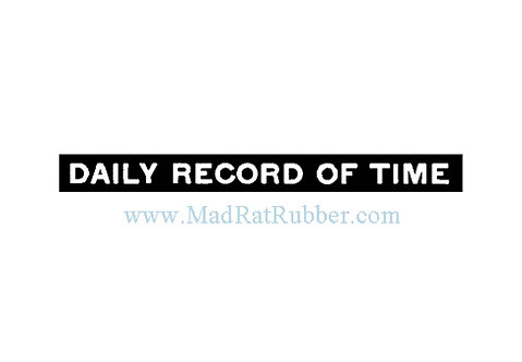 M157 Daily Record of Time