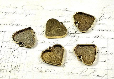 Large Heart Pendant Bezel AG