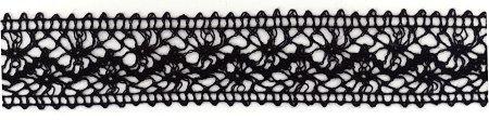 Black Crochet Ribbon