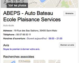 L'ABEPS en première page de Google ...