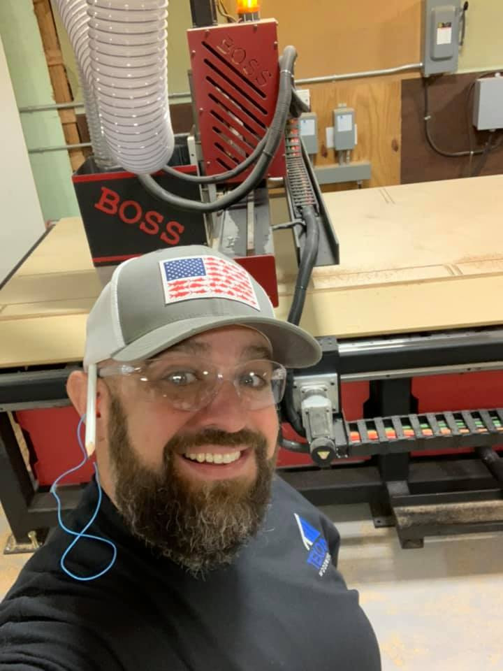 Absolutely loving our Boss CNC Router. Such a game changer and the folks at Boss know the meaning of customer service. Call us for your next cabinet job, new build, or remodel - Texoma Woodworks, LLC.