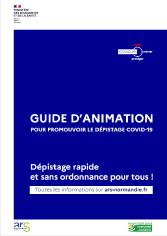 Guide d'animation pour promouvoir le dépistage COVID-19.
