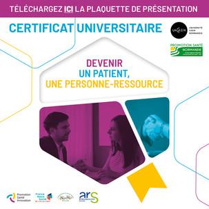 Certificat universitaire patient personne ressource
