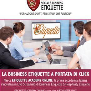 Nasce la prima Scuola Digitale di Business Etiquette firmata da Etiquette Italy