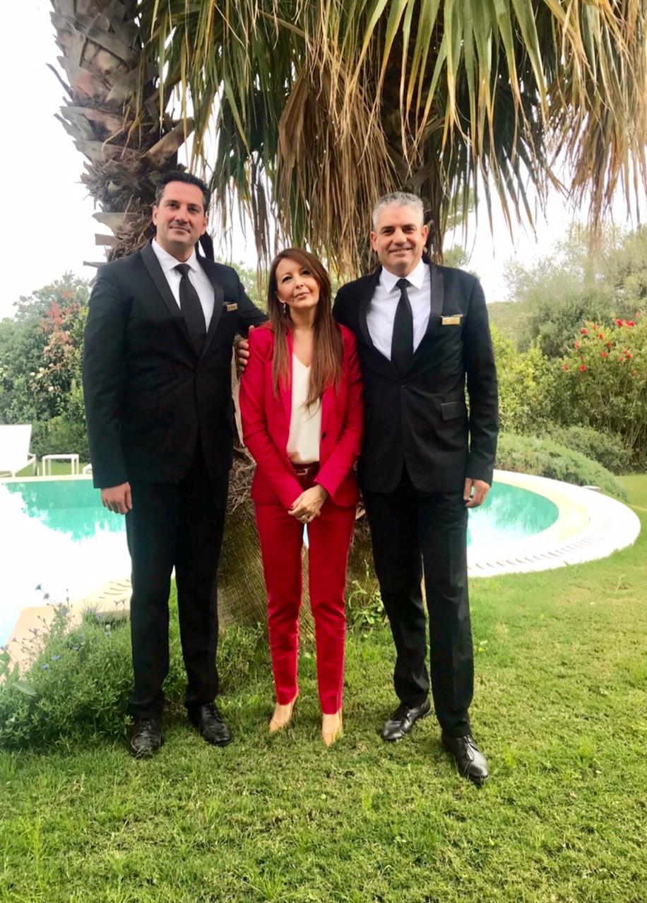 Simona Artanidi con i Butler Villas