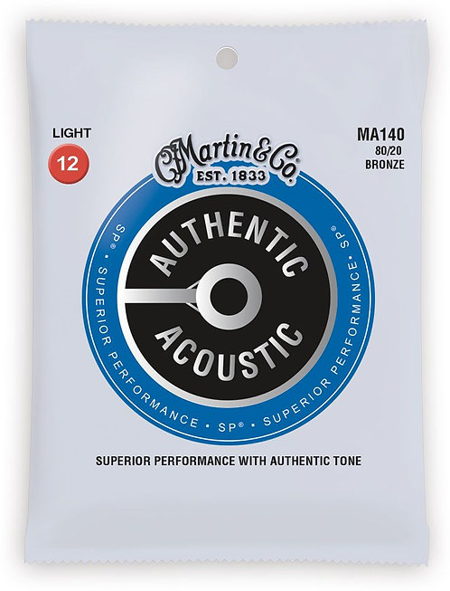 Martin MA140 SP 80/20  Acoustic Guitar Strings, Light