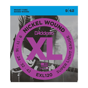 D'Addario EXL120 Nickel Wound, Super Light, 09-42