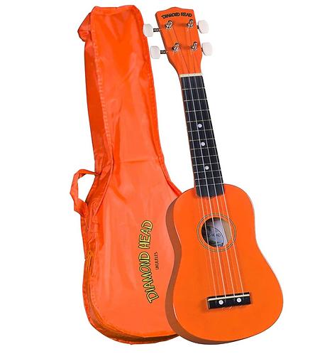Diamond Head DU-103 Rainbow Soprano Ukulele - Orange