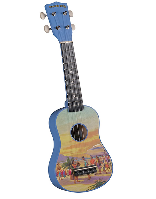 Diamond Head DU-133 Vintage Series Soprano Ukulele - Vintage Hawaii,Blue