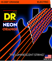 DR Neon Orange Coated Electric Strings