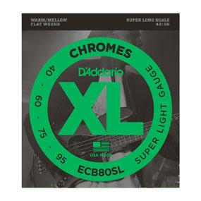 D'Addario ECB80SL Chromes Bass, Light, 40-95, Super Long Scale