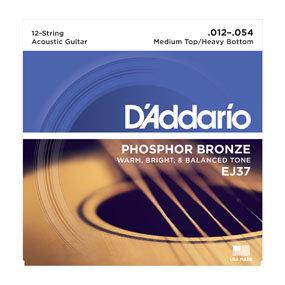 EJ37 Phosphor Bronze 12-String Acoustic Guitar Strings, Medium Top/Heavy Bottom,