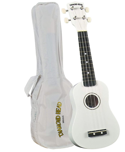 Diamond Head DU-109 Rainbow Soprano Ukulele - White