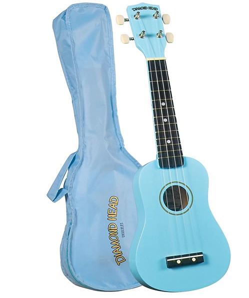 Diamond Head DU-106 Rainbow Soprano Ukulele - Light Blue