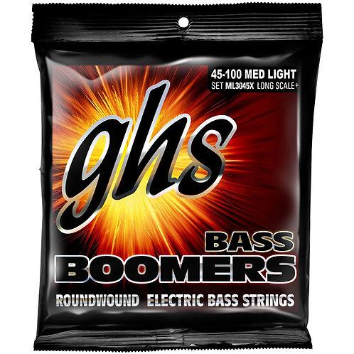 "GHS ML3045XEXTRA LONG SCALE BASS BOOMERS - Medium Light (38"" winding)"