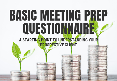 Questions to answer BEFORE your meeting!
