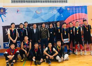 Orkhon Khasu's boy's basketball team won a silver medal