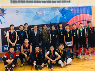 Orkhon Khasu's boy's basketball team won a silver medal