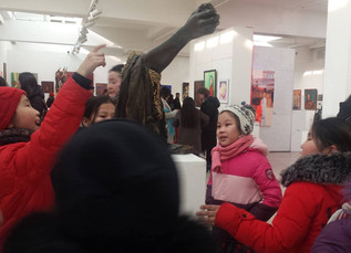 Students visited the Art Gallery of Union of Mongolian Artists