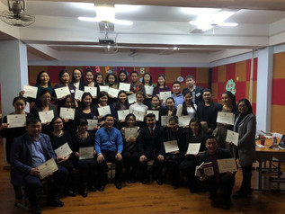 Teachers received Dale Carneige Course Certificate