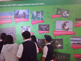 Students have visited to the Mongolian National Modern Art Gallery
