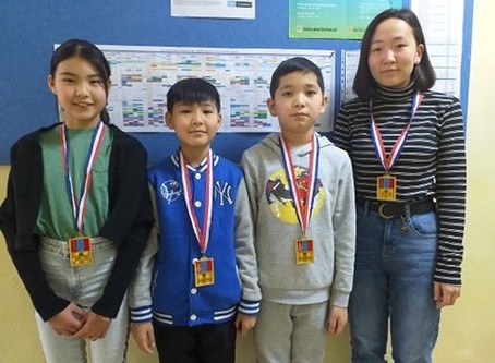 "Students received gold medals form ""Ikh Nuudel 2019"""