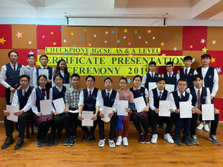Students have received their certificates from Cambridge