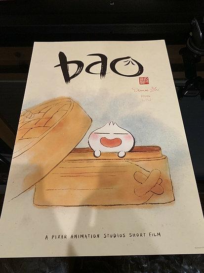 Bao Short Film Pixar Studios Store Signed Promo Poster Domee Shi Rona Liu